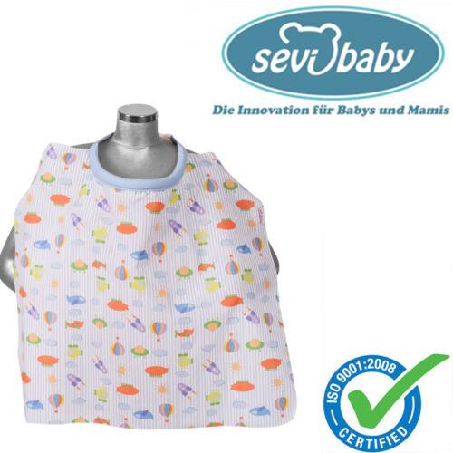 Sevibaby Baby Stilltuch Abdecktuch mit Verschluss FLUGZEUG Still Schürze Stillen