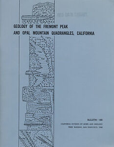 Details about Gold mines report, near Barstow, Boron, Calif, Fremont Peak,  Opal Mtn, BIG maps!