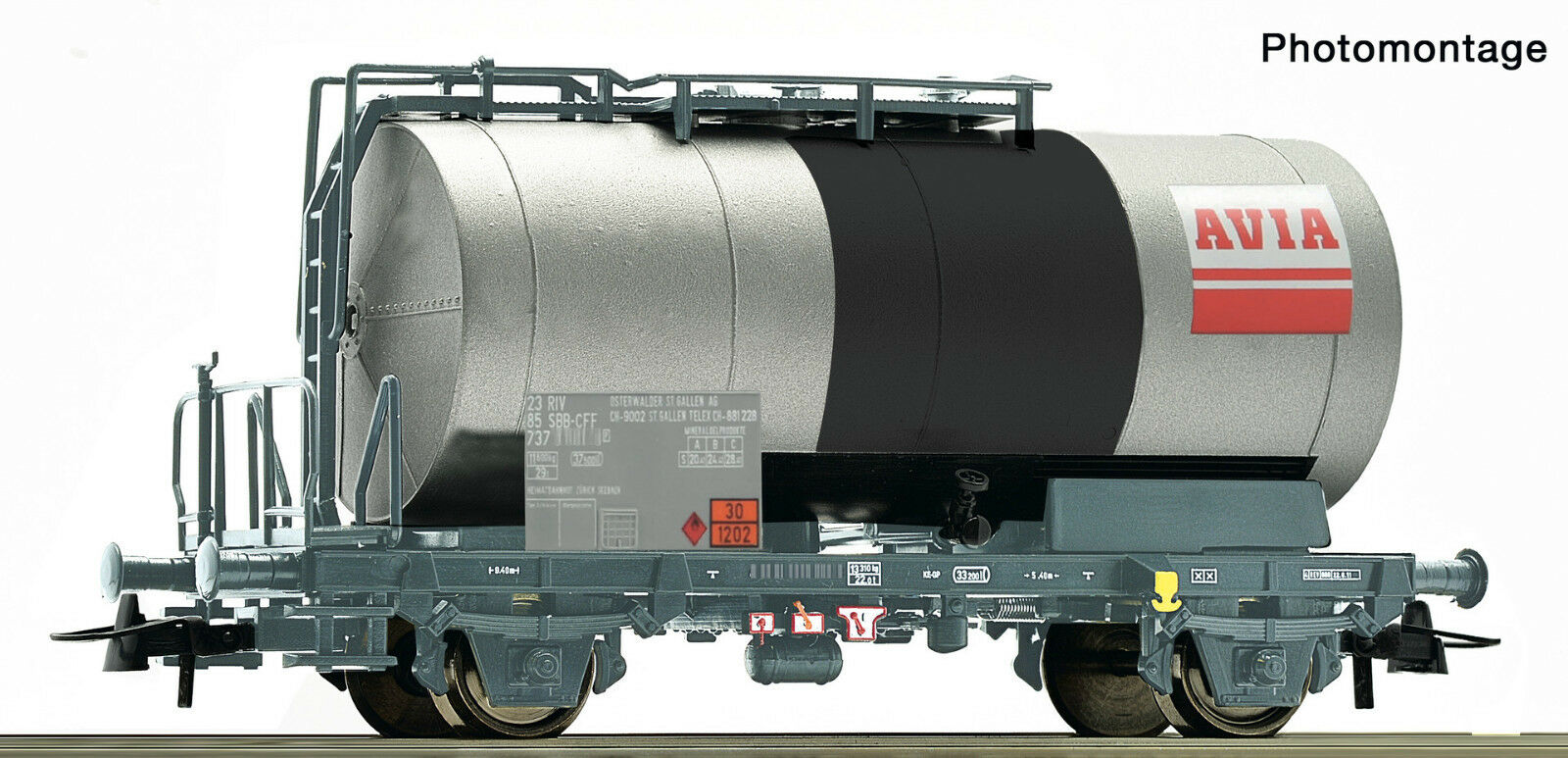 Roco 76972 Tank Wagon Avia SBB Ep Iv-V Optional Wheelsets Märklin for Free