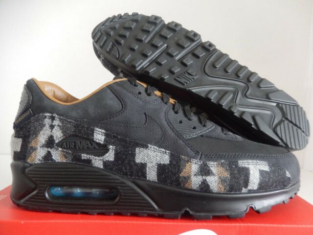 new styles c10e8 f924a MENS NIKE AIR MAX 90 PND QS PENDLETON PREMIUM BLACK-ALE BROWN SZ 6
