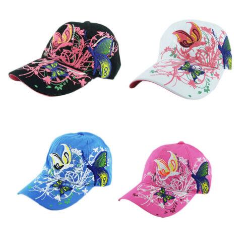 Femmes Brodé Papillon Imprimé Casquette de baseball Shopping Cyclisme Duck langue Chapeaux