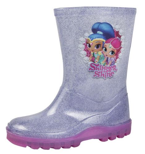 Shimmer e lucentezza Glitter Stivali in Stivali Da Neve Pioggia Tg Bambino Taglia