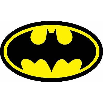 Diecut Vinyl BATMAN LOGO Decal Sticker Comic Dark Knight Colored Buy2Get1Free