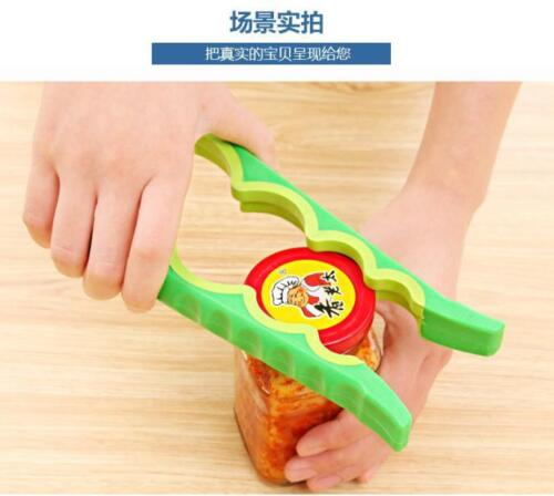 4 in 1 Colorful Jar And Bottle Cap Handy Opener Plastic Easy Twist Kitchen Tools