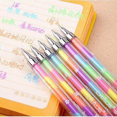 Awesome 1X Cute Highlighter Pen Marker Stationary Point Pen Ballpen 6Color J1 .Z