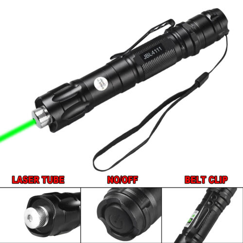Star Cap Military 100 Miles 532nm Green Laser Pointer Pen Visible Beam Battery