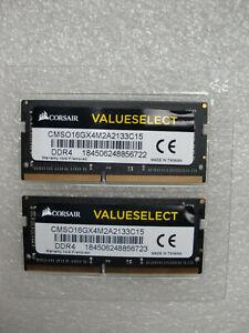 16-GB-2x8-GB-Corsair-DDR4-CMSO16GX4M2A2133C15-Notebookspeicher-Top-Zustand