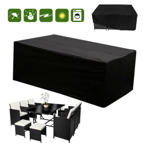 8 Size 4-10 Seaters Rattan Furniture Modular Table Sofa Set Outdoor Rain Cover