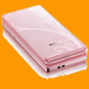 Philips-Xenium-X606-Pink-5MP-AF-OLED-Light-Effect-GSM-2G-Flip-Mobile-Cell-Phone