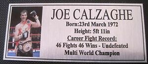 JOE-CALZAGHE-new-Boxing-Champions-Gold-Subimated-Plaque-034-FREE-POSTAGE-034