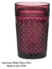 Amethyst Glass Addison Pattern Tumbler - Mosser USA