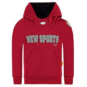 Details zu STEIFF Jungen Sweatshirt mit Kapuze rot NEW SPORTS 6713453 Pullover TeddyBär NEU