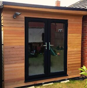 Upvc french doors black grey or cream white internal made to measure ebay for French doors exterior upvc made to measure