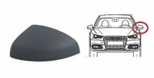 AUDI A1 10-15 LEFT WING REARVIEW MIRROR COVER PRIMED 8X0857527AGRU