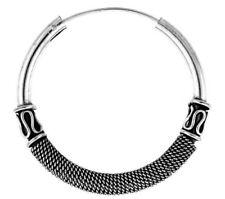 .925 Sterling Silver Large Bali Hoop Earrings 1 9//16 inches diameter