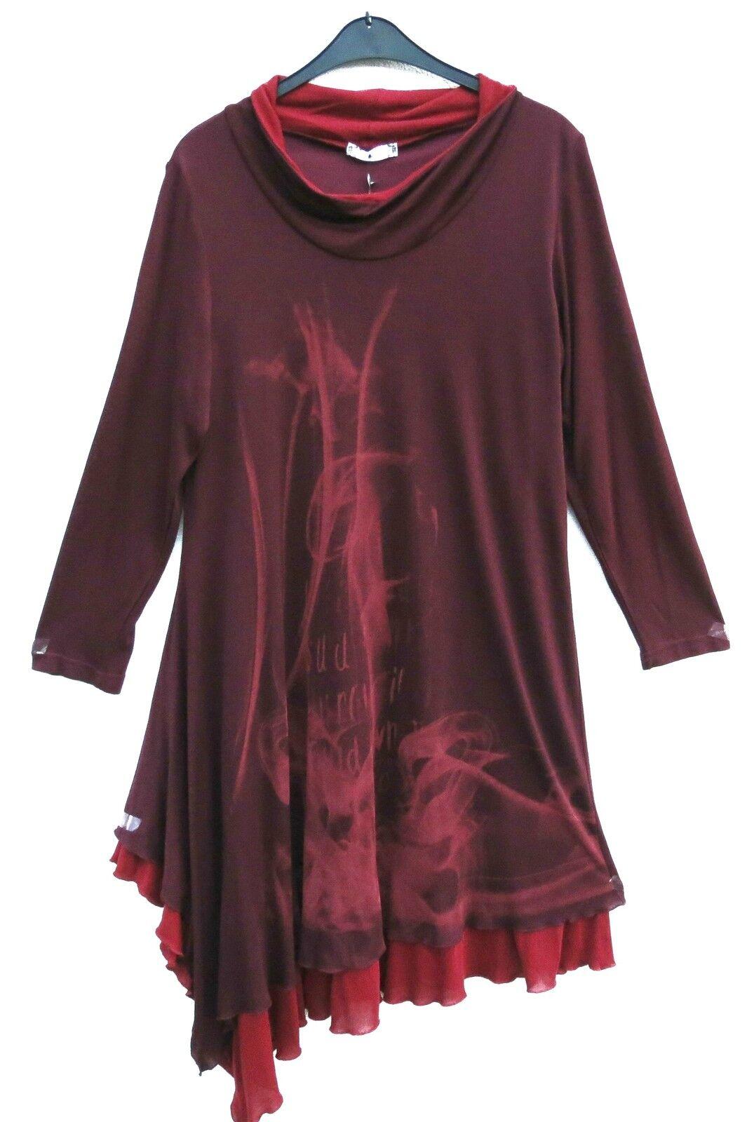 LA MOUETTE TRAUMHAFT Kleid Dress Robe Vestido Tunika Tunic L 44 46 Lagenlook