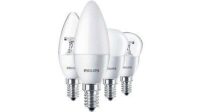 4000K Kronleuchter Leuchte E14 Philips CorePro LED Glüh Kerze 5,5W=40W KALT
