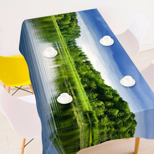 3D Tree lake87 Tablecloth Table Cover Cloth Birthday Party Event AJ WALLPAPER AU