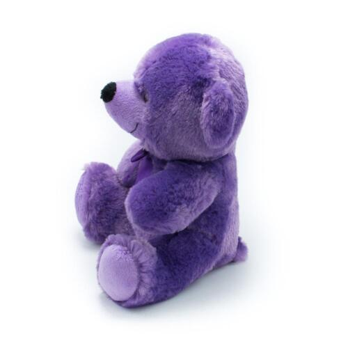 "9/"" Purple Plush Teddy Bear Stuffed Animal Toy Gift New"