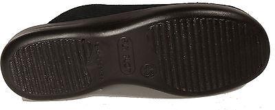 FLYFLOT Hausschuhe Pantoffeln Cord Textil schwarz NEU Hauspuschen