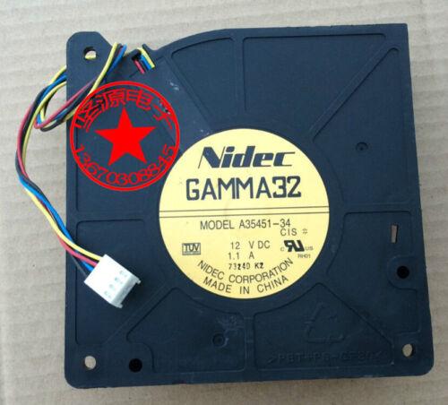 NIDEC GAMMA32 12V 1.1A A35451-34 fan 4pin for CIS 3560G-24TS-S #M712 QL