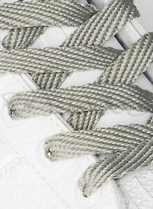 Graue-Schnuersenkel-Schuhbaender-Senkel-Sneaker-Flachsenkel-Schuhband-Grau