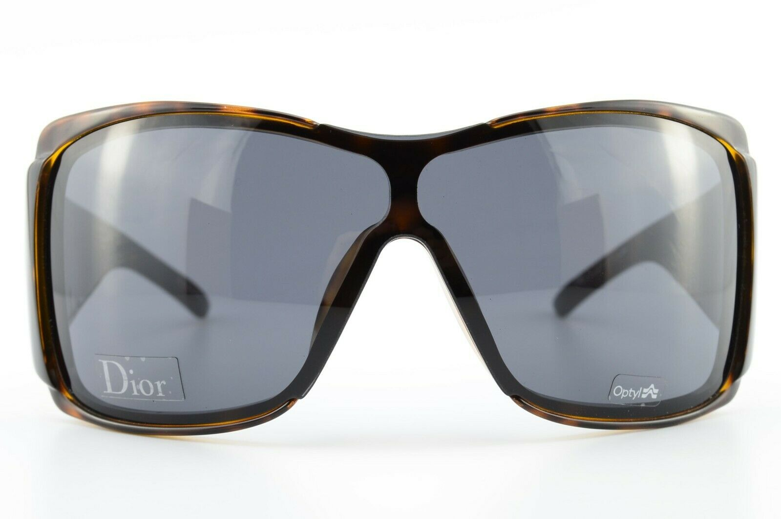 Christian Dior Sunglasses Diorstripes 1 SZFJC 120 Optyl Brown Wrap Luxury + Case