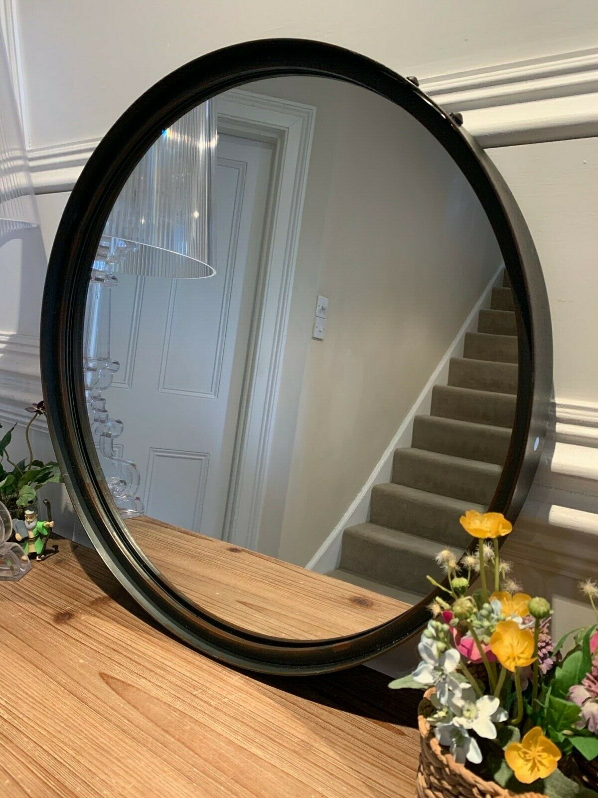 Aged Rust artisan round mirror 55cm diameter