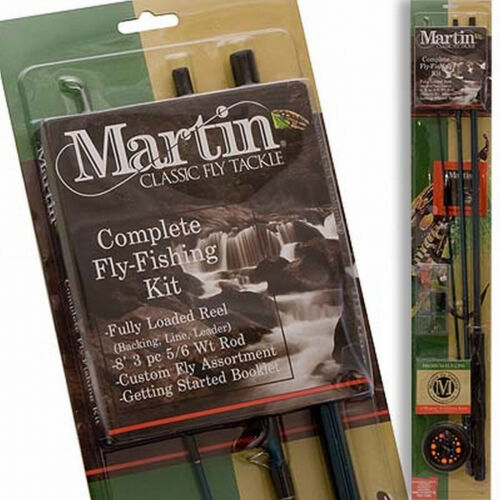 Martin Complete Fly Fishing Kit  Rod Reel Line Fly Assortment NEW