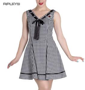 HELL-BUNNY-50s-Mini-Summer-Dress-LADYBIRD-Gingham-Vintage-All-Sizes