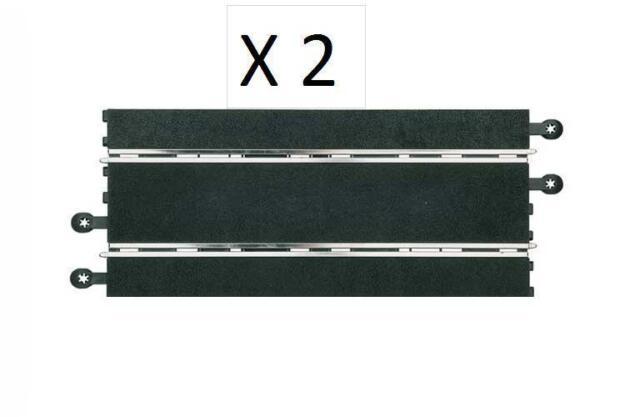 2 Rectas para Scalextric  analogicas , negras Nuevas 350mm 1/32 News