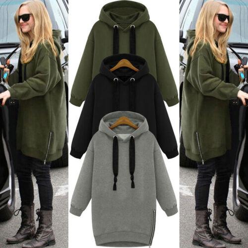 Women Hoodies Hooded Casual Plus Zip Up Sweatshirt Sweats Hoody Fleece Jumper