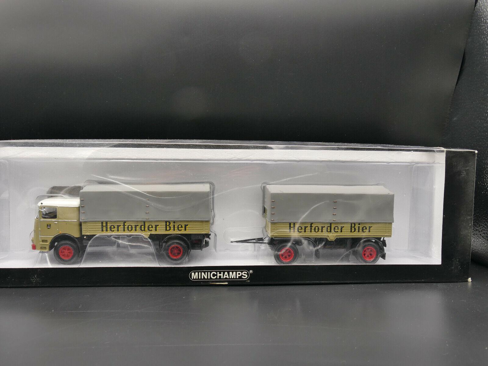 disfruta ahorrando 30-50% de descuento Minichamps Bussing LU11 16 16 16 pritschenzug HERFORDER BIER-Limited 648  mejor precio