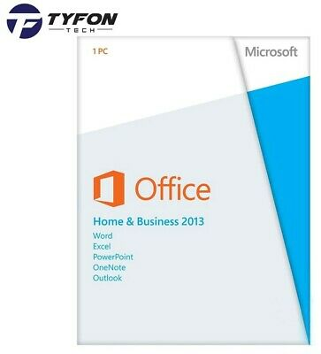 Microsoft Office 2013 Home and Business 2 User DVD & Key