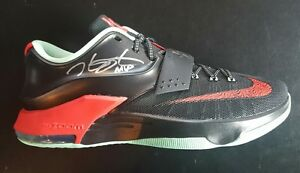 73a85b5f7809 Image is loading Kevin-Durant-MVP-Signed-Autographed-Nike-Shoe-Size-