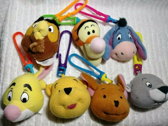 Winnie Pooh Keychain Backpack Clips Disney Toys McDonalds Plush Happy Meal 7