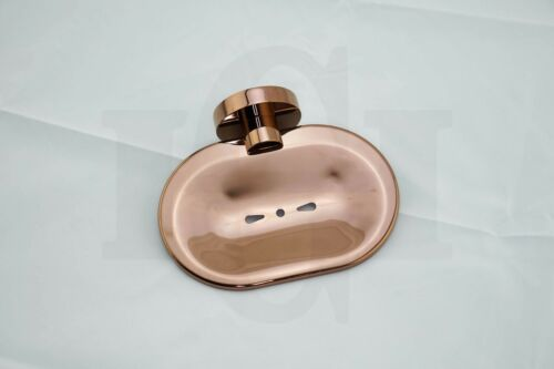 iDeal Round Rose Gold Wall Mount Soap Holder//Dish//TrayPVD Electroplated