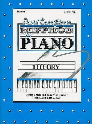 David Carr Glover Method for Piano Theory: Level 1 by Martha Mier NEW