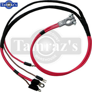 68 70 for mopar b body positive terminal battery cable harness starter wire loom ebay. Black Bedroom Furniture Sets. Home Design Ideas