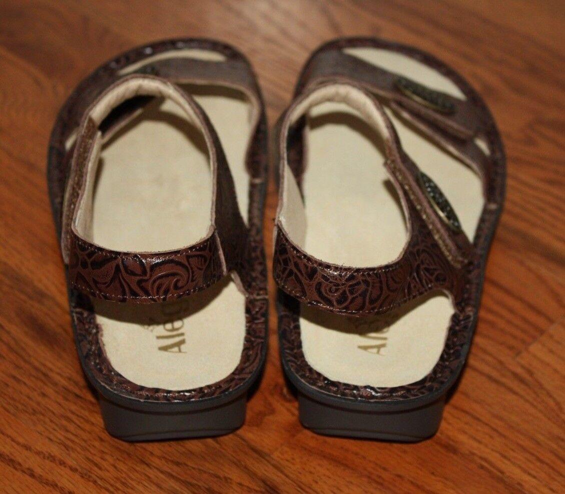 NEW Damenschuhe Sandales Alegria Vie 872 Braun Leder Sandales Damenschuhe Schuhes Größe 39 021238