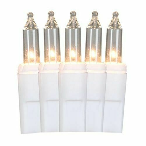 GE ConstantON 600 Constant White Mini Incandescent PlugIn Christmas Icicle Light