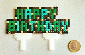 Happy Birthday Cake Topper Minecraft Themed Decoration Kid