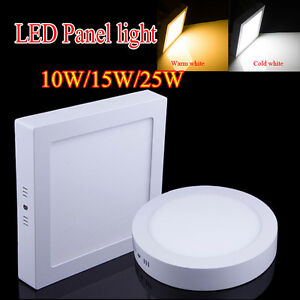 Dimmable LED Ceiling Down Light 10W 15W 25W 30W Panel Lamp Bulb Warm Cool White