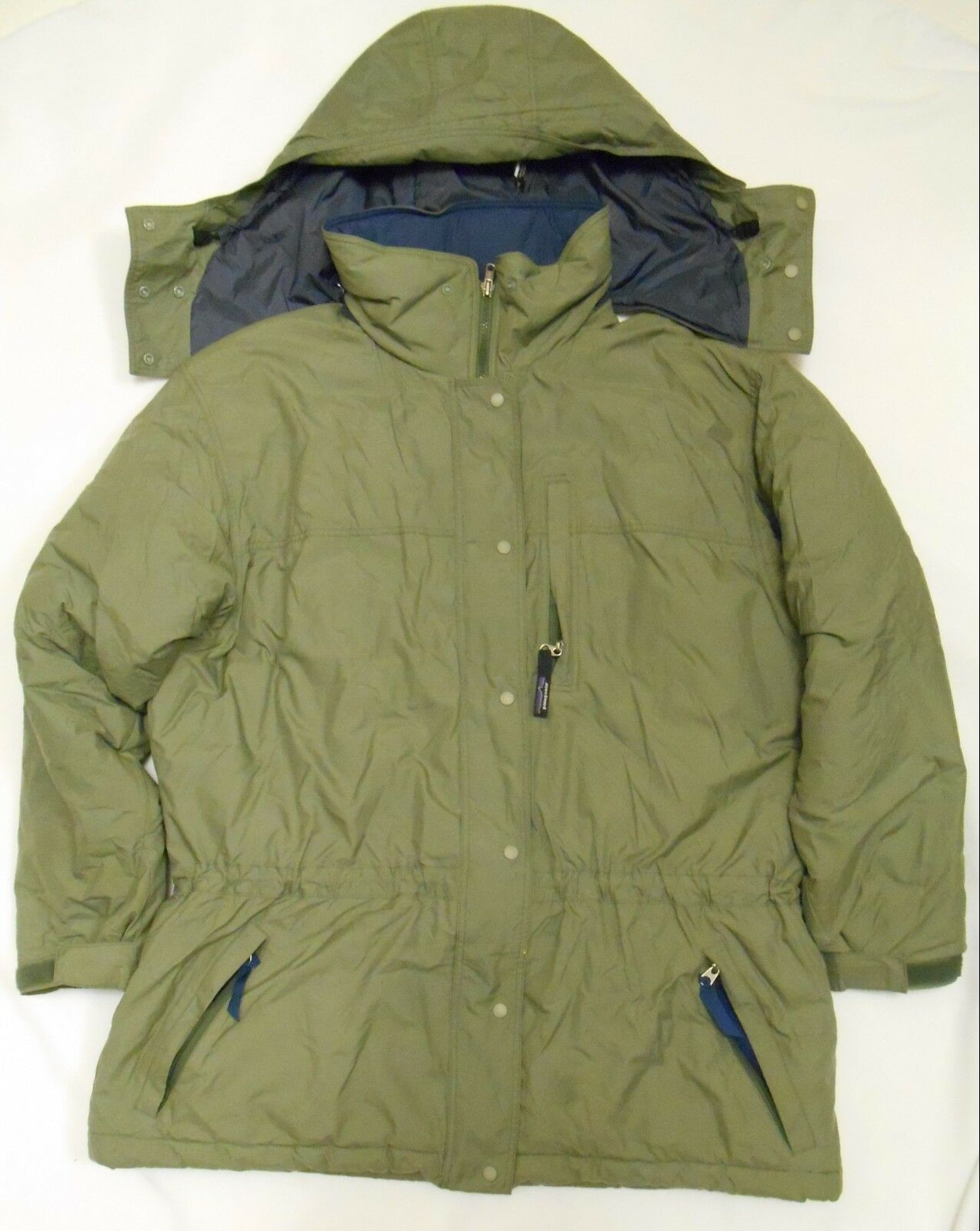PATAGONIA Women's Vintage COAT Winter Ski Hooded Green Sz Large