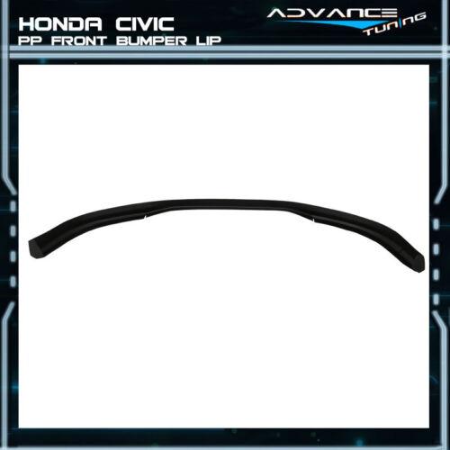 Fits 96-98 Honda Civic T-R Black PP Front Bumper Lip Spoiler Bodykit