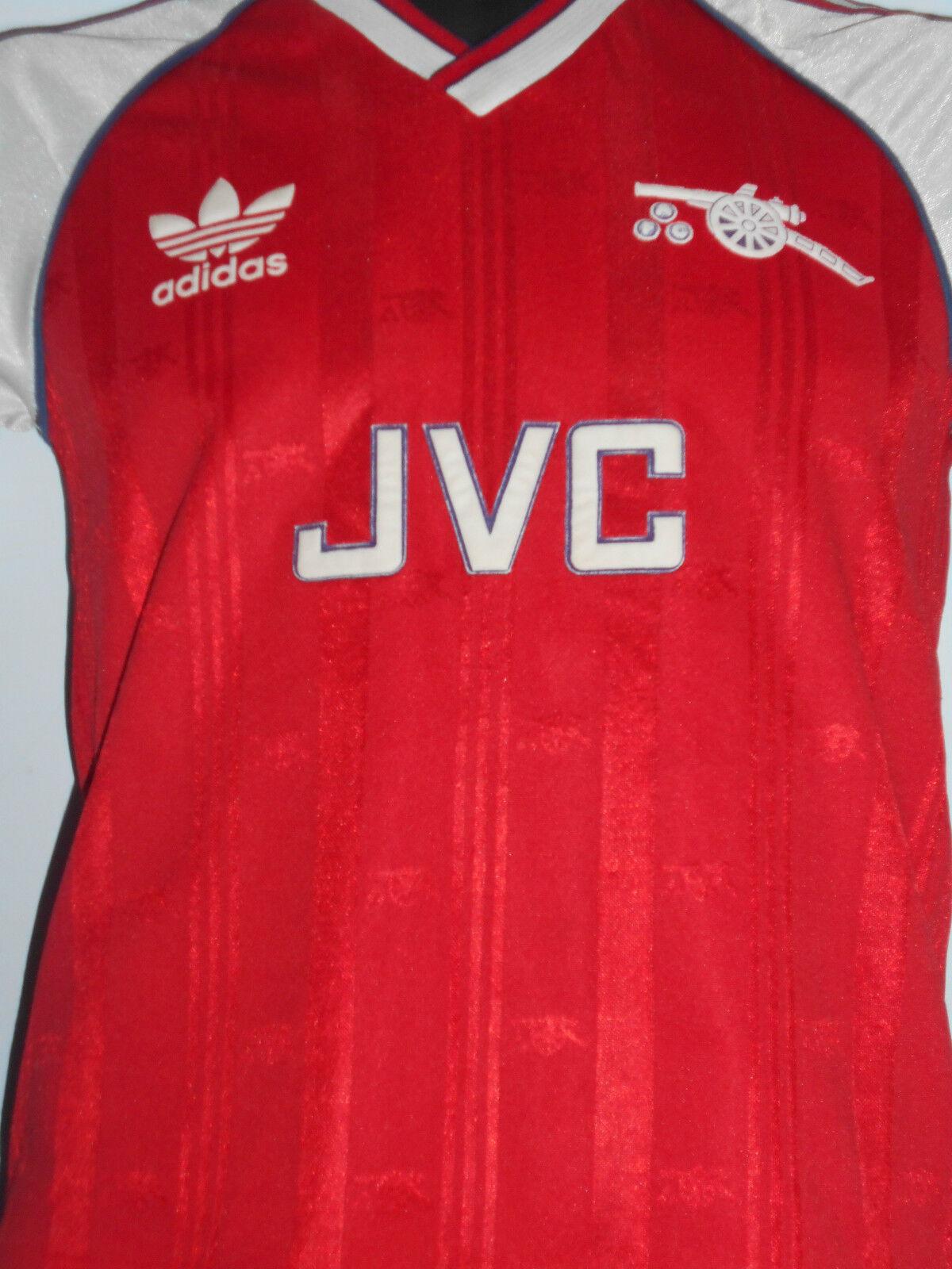 RARE Arsenal Calcio Casa Maglietta Jersey 19881990 grandi Ragazzi 76 81 cm  07