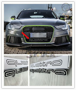 rs style front quattro emblem grille badge for audi a1 a3. Black Bedroom Furniture Sets. Home Design Ideas