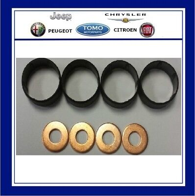Seals Pack of 4 Peugeot 806 2.0 HDI Bosch Diesel Injector Washers