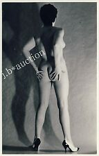 NUDE WOMAN STUDY REAR VIEW / AKTSTUDIE RÜCKEN PO NACKT * Vintage 70s Photo PC