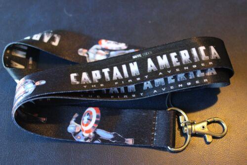 New Captain America BK Lanyard Neck Strap Keychain ID Badge Holder Marvel Comics